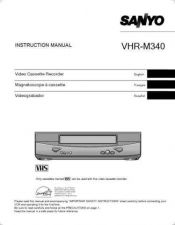 Buy Sanyo VHR-M340(OM5310197-00 13) Manual by download #177493