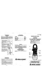 Buy Amprobe FS3C User Instructions Operating Guide by download Mauritron #194367