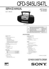 Buy SONY CFD-S45L Manual by download #181425