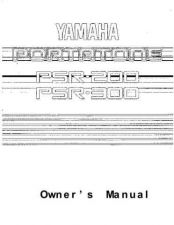 Buy Yamaha PSR300E Operating Guide by download Mauritron #204124