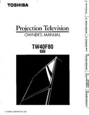 Buy Toshiba TW56F80 Manual by download #172495