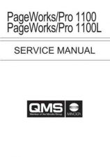 Buy KONICA MINOLTA QMS PAGEPRO 1100 SERVICE MANUAL by download #152107