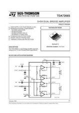 Buy MODEL TDA7266S Service Information by download #124770