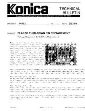 Buy Konica 01 PLASTIC PUSH PIN REPLACE Service Schematics by download #135782