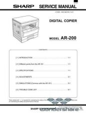 Buy Sharp 117 AR-200 SM Manual.pdf_page_1 by download #177672