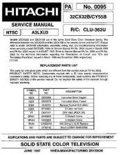 Buy HITACHI 32CX32B USA Service Manual by download #163260