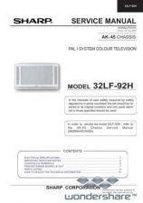 Buy Sharp 32LF92H SM GB(1) Manual.pdf_page_1 by download #178294