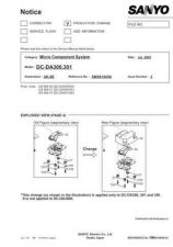 Buy Sanyo Service Manual For DC-DA1000 Manual by download #175594