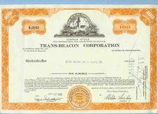 Buy DE na Stock Certificate Company: Trans-Beacon Corporation ~87