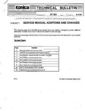 Buy Konica 01 SERVICE MANUAL ADDITIONS Service Schematics by download #135784