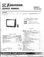Buy EMERSON EMERSON-ORION TC1972D TV Manual by download Mauritron #184997