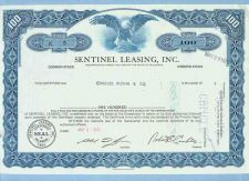 Buy DE na Stock Certificate Company: Sentinel Leasing, Inc. ~76