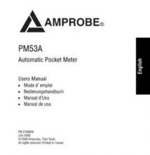 Buy Amprobe PM53A Operating Guide User Instructions by download Mauritron #194464