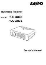 Buy Sanyo PLC-XP55L Manual by download #174953