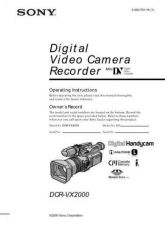Buy SONY DCR-VX2000(EN) OPERATING GUIDE by download #166729