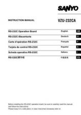 Buy Sanyo VQC-800 Operating Guide by download #169727