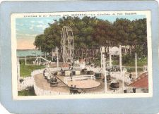 Buy CAN Montreal Amusement Park Postcard Attractions In The Dominion Park w/Fe~490