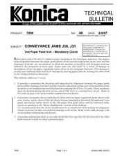 Buy Konica 03B CONVEYANCE JAMS J30 J3 Service Schematics by download #135853
