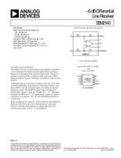 Buy SEMICONDUCTOR DATA SSM2143J Manual by download Mauritron #190249