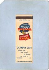 Buy CAN Victoria Matchcover Olympia Cafe 752 Yates St can_box1~182