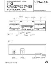 Buy KENWOOD CT-405 KXF-W4030 W4030S W4030E Service Data by download #132703