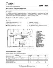 Buy MODEL TDA1083 Service Information by download #124647