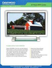 Buy DAEWOO DP42SM USER MANUAL Manual by download #183919