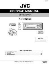 Buy JVC KD-S6350 Service Schematics by download #156154
