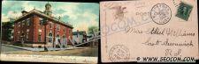 Buy CT New London Postcard Post Office Street Scene Intersection w/Trolley Tra~2149