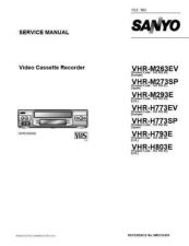 Buy Sanyo Service Manual For VHR-H803E Manual by download #176224