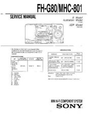 Buy SONY F-VX850A Service Manual by download #166848