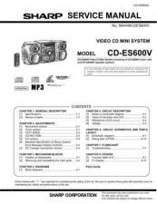 Buy Sharp 496 CD-VC656W CDES600VC Manual by download #178552