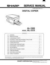 Buy Sharp AL1000-1010 SM GB Manual by download #178962