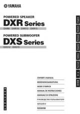 Buy Yamaha DXR-DXS EN OM C0 Operating Guide by download Mauritron #204623