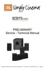 Buy INFINITY SCS175 PRELIMINARY SM Service Manual by download #151509