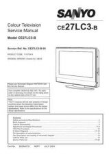 Buy Sanyo CE27LC3-B-00 SM Manual by download #173069