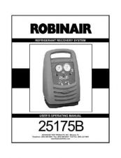 Buy Robinair 25175B User Instructions Operating Guide by download Mauritron #194207