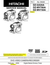 Buy Hitachi DZGX20A Service Manual by download Mauritron #193871
