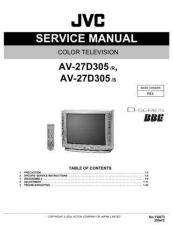 Buy JVC AV-27D305 Service Schematics by download #155333