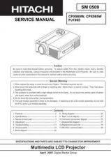 Buy Hitachi CPX980W CPX985W SM 0509E Manual by download Mauritron #186025