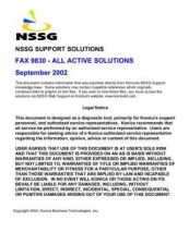 Buy Konica 9830 Service Schematics by download #136365