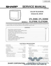 Buy Sharp 27LS500-X2000-CL27S50-CL27X200 SM GB(1) Manual.pdf_page_1 by download #178