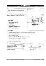 Buy INTEGRATED CIRCUIT DATA DBL2036J Manual by download Mauritron #186781