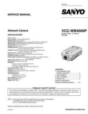 Buy Sanyo Service Manual For VCC-WB4000P Manual by download #176131