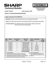 Buy Sharp FAX201 Technical Bulletin by download #138934