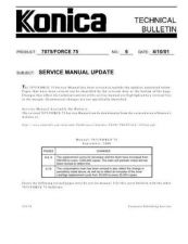 Buy Konica 06 SERVICE MANUAL UPDATE Service Schematics by download #135892