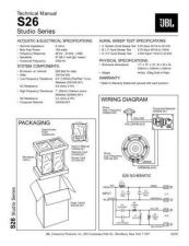 Buy INFINITY S26 STUDIO SERIES TS Service Manual by download #147732