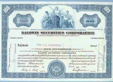 Buy DE na Stock Certificate Company: Baldwin Securities Corporation ~5
