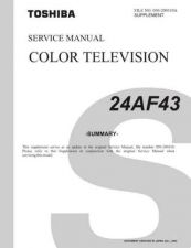 Buy TOSHIBA 24AF43 SUMMARY Service Manual by download #167365