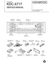 Buy KENWOOD KDC-X715 Service Manual by download #151905